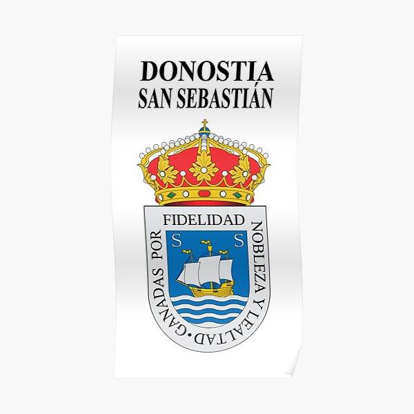 034_2A - DONOSTIA / SAN SEBASTIÁN - ESCUDO DE ARMAS Póster
