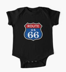 US Route 66 Shirt Short Sleeve Baby One-Piece