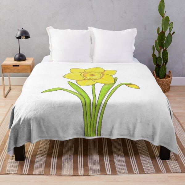 Daffodil Throw Blanket