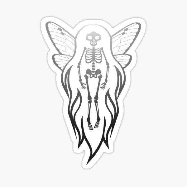 Faery Skeleton Flame Hair Gradient Sticker
