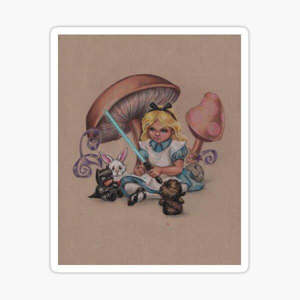 Alice in Fandomland (somewhere in Gaderen's Forest) Sticker