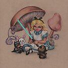 Alice in Fandomland (somewhere in Gaderen's Forest) by justteejay