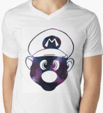 Galaxy Mario Mens V-Neck T-Shirt