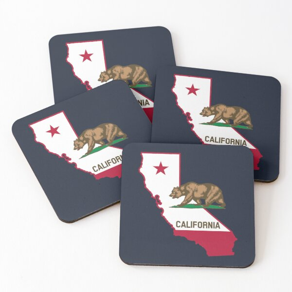 Bear Flag Coasters Redbubble