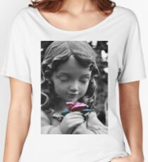 Girl with Rose II Women's Relaxed Fit T-Shirt