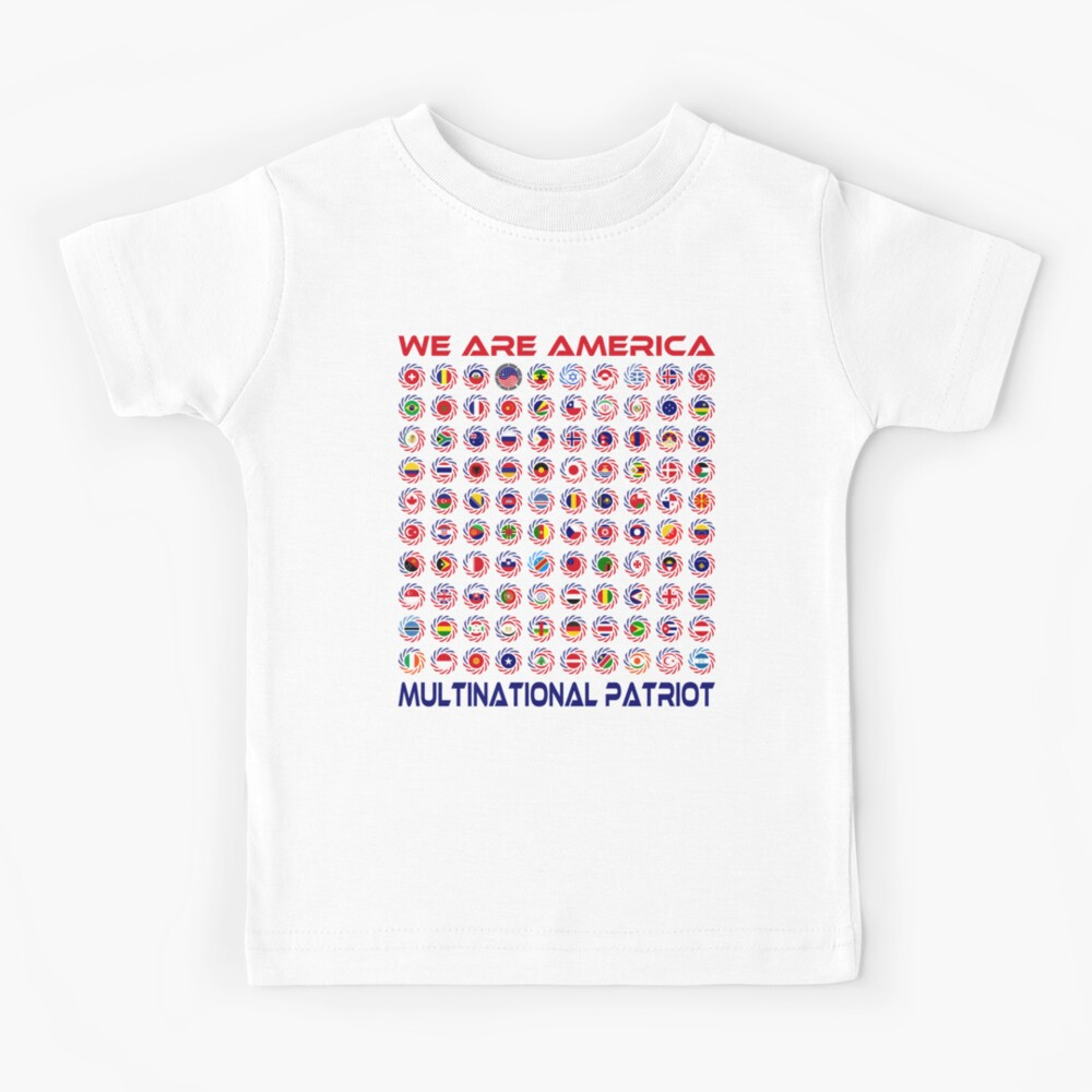 We Are America Multinational Patriot Flag Collective 2.0 Kids T-Shirt
