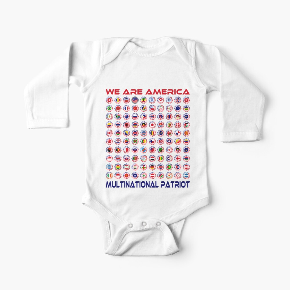We Are America Multinational Patriot Flag Collective 2.0 Baby One-Piece