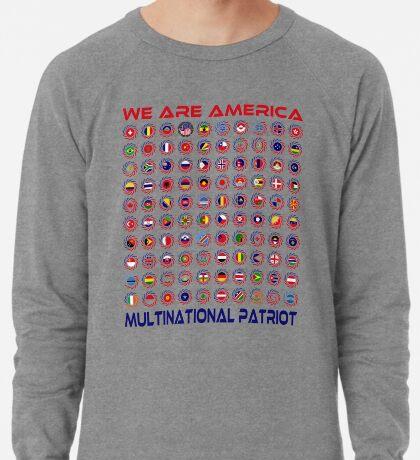We Are America Multinational Patriot Flag Collective 2.0 Lightweight Sweatshirt