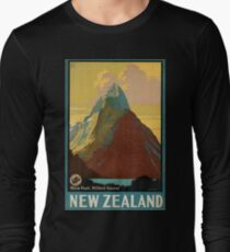 Vintage poster - New Zealand Long Sleeve T-Shirt