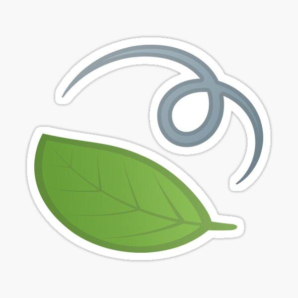 Leaf Fluttering in Wind Green Leaves Spring Gift for Green Leaves Lovers Sticker