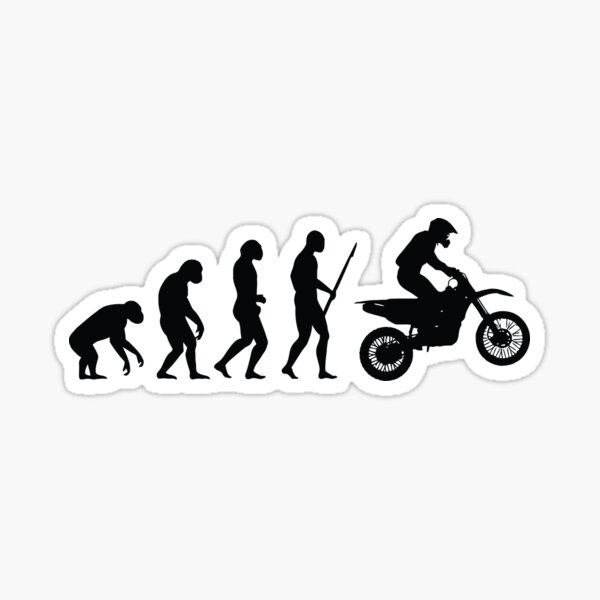 Evolution du Motocross Sticker