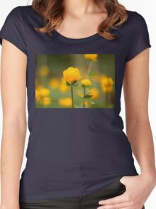Yellow bud Women's Fitted Scoop T-Shirt