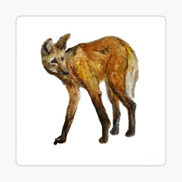Golden wolf like a fox Sticker