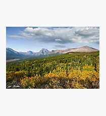 Two Medicine Creek Valley in the Fall Photographic Print