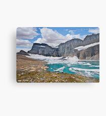 Upper Grinnell Lake and Glacier Metal Print