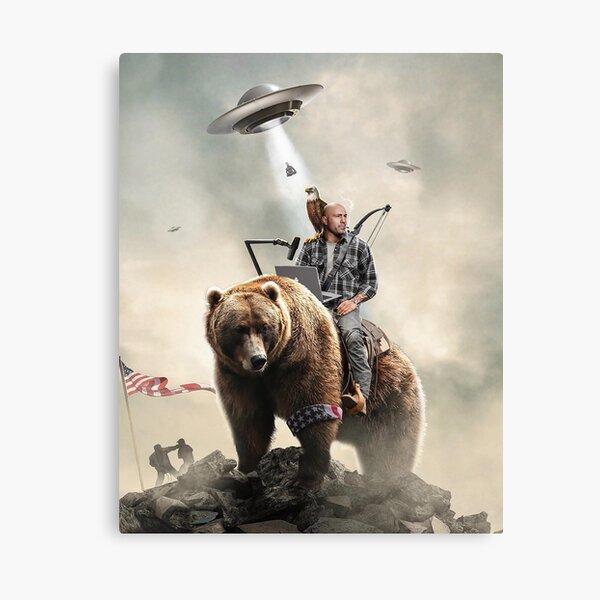 Joe Rogan Riding A Bear (+ Aliens) Canvas Print