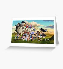 Studio Ghibli Family Greeting Card