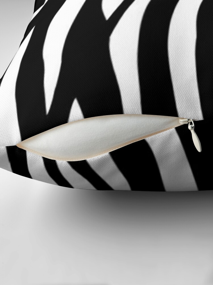 Alternate view of Zebra design  Throw Pillow