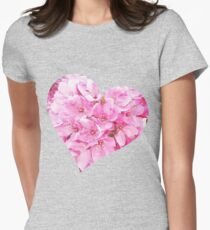 Blooming Heart.  Womens Fitted T-Shirt