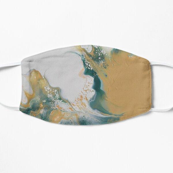 Sahara waves - Dutch pour acrylic fluid art Flat Mask