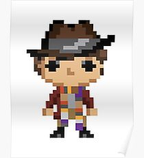 4th Doctor (8-bit) Poster