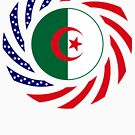 Algerian American Multinational Patriot Flag by Carbon-Fibre Media