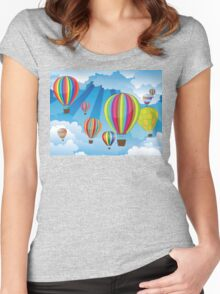 Air Balloons in the Sky 6 Women's Fitted Scoop T-Shirt