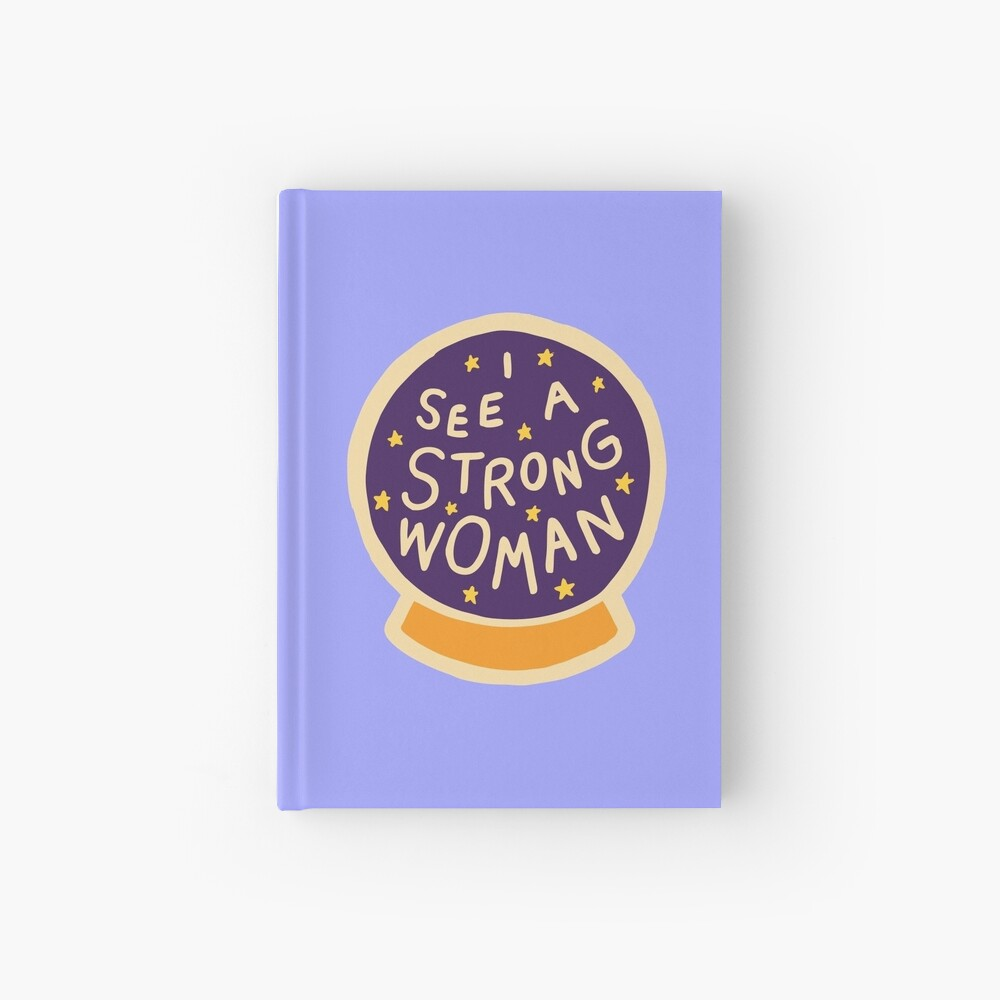 I see a strong woman on Lilac Hardcover Journal