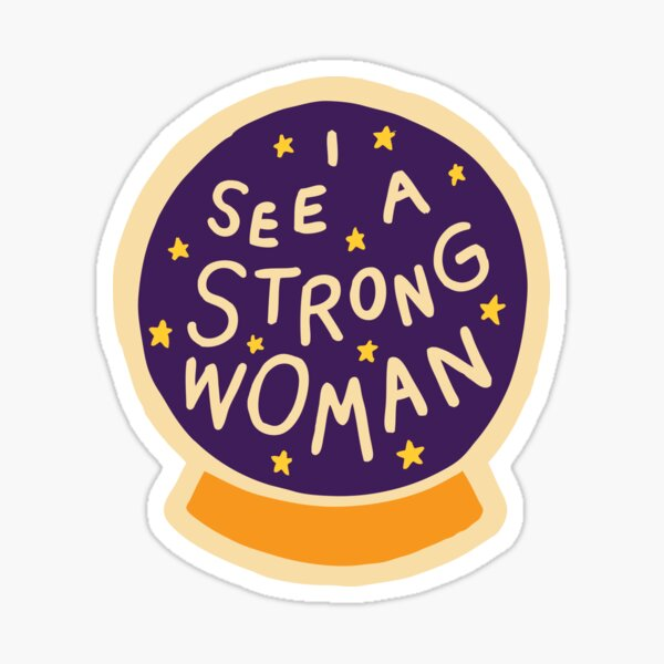 I see a strong woman on Lilac Sticker