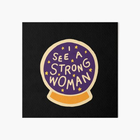 I see a strong woman on Black Art Board Print