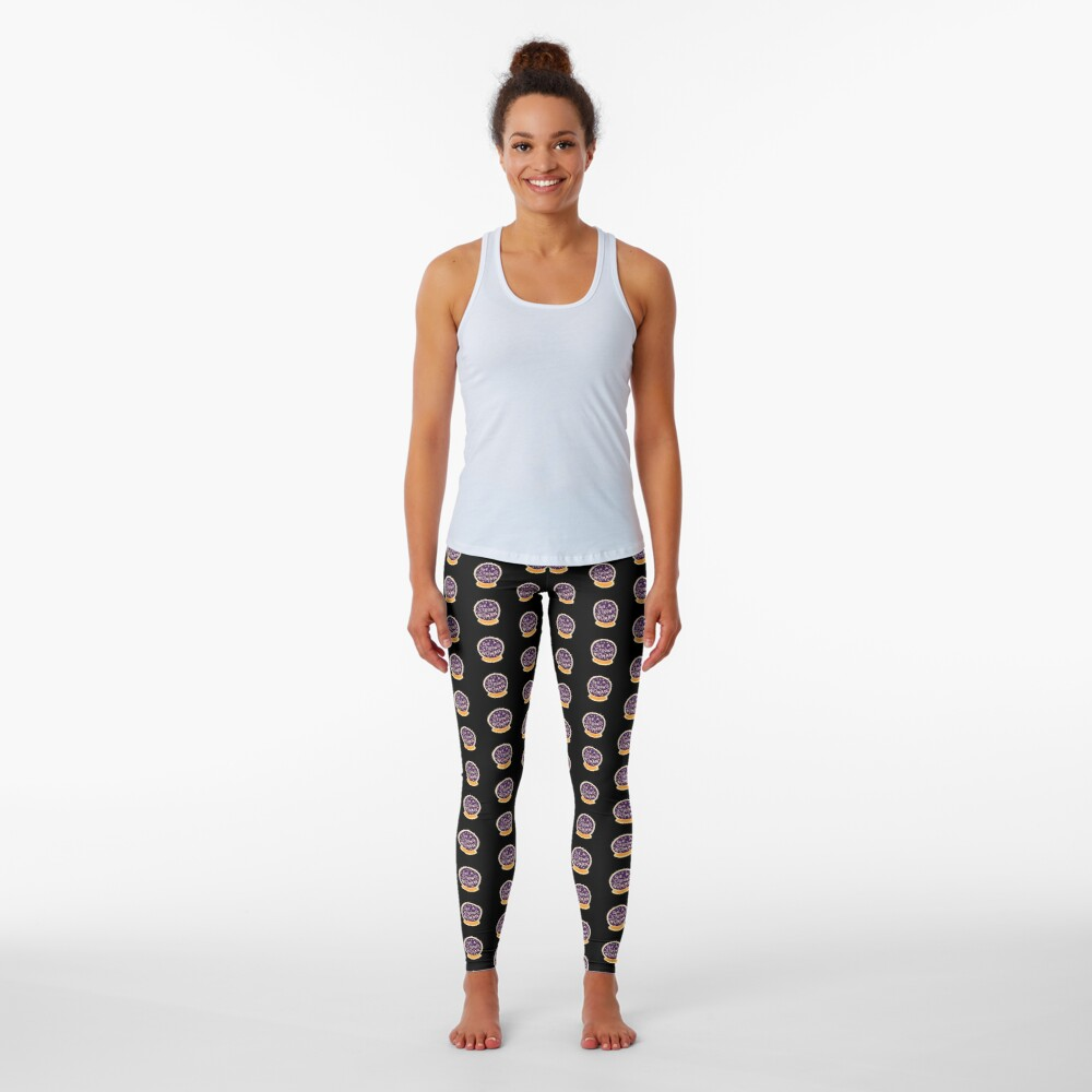 I see a strong woman on Black Leggings