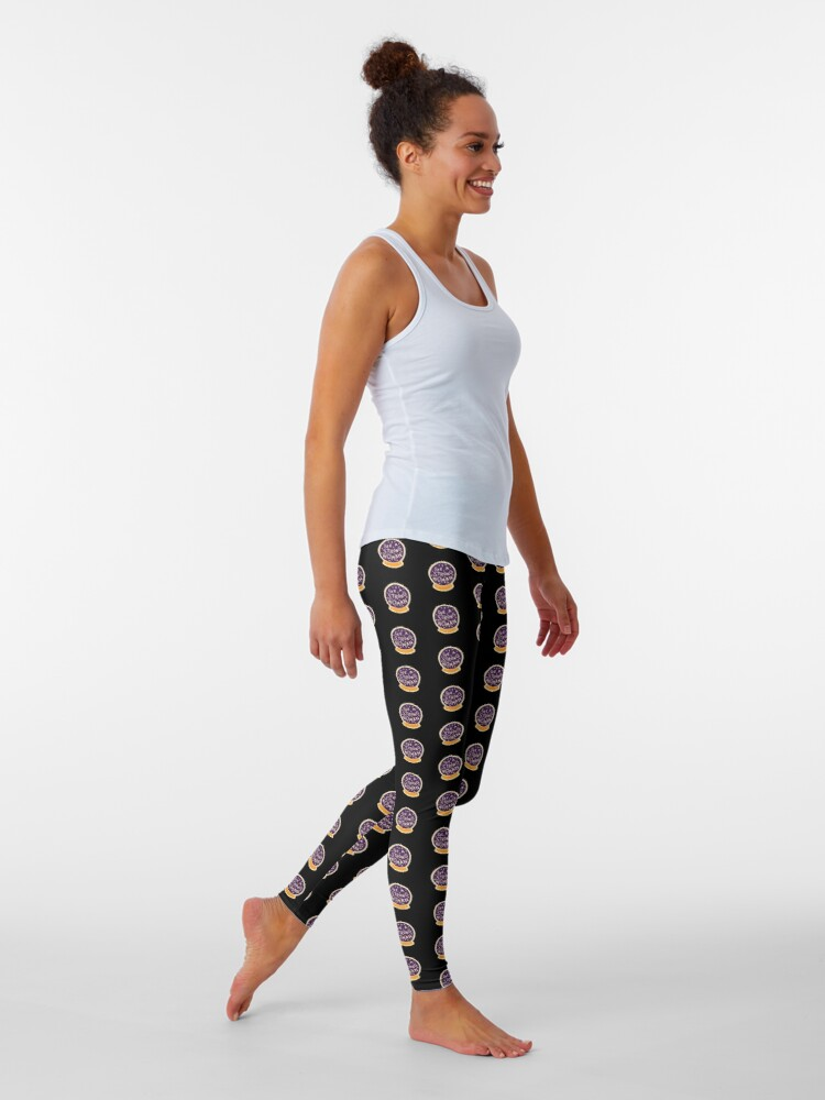 Alternate view of I see a strong woman on Black Leggings