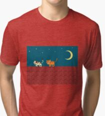 Chat sur le toit T-shirt chiné