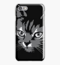 Black cat cartoon silhouetteCat silhouette cat silhouette iPhone Case/Skin