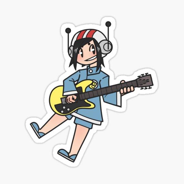 Small guitarist Sticker