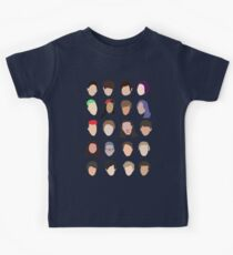 youtuber flat design collage Kids Tee