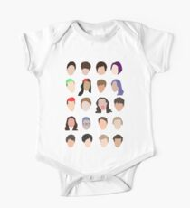 youtuber flat design collage One Piece - Short Sleeve