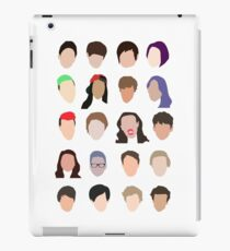 youtuber flat design collage iPad Case/Skin
