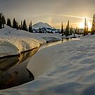 Sunset on Lake Tipsoo  by James Duffin