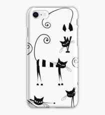 Amusing cats design set iPhone Case/Skin