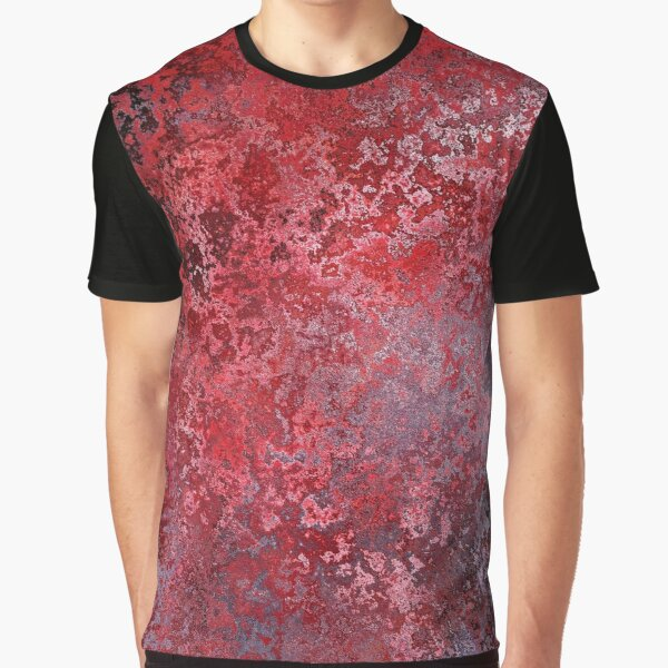 Ornamental Pattern With Red Color Graphic T-Shirt