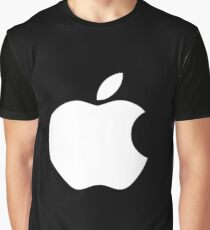 White Official Apple logo HD Graphic T-Shirt