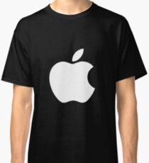 White Official Apple logo HD Classic T-Shirt