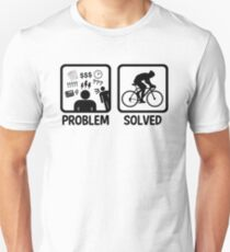 Funny Problem Solved Cycling T-Shirt