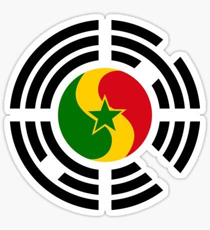 Korean Senegalese Multinational Patriot Flag Series Sticker