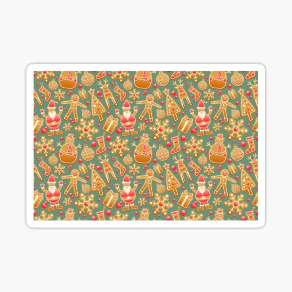 Ornamental Pattern With Red Color Sticker