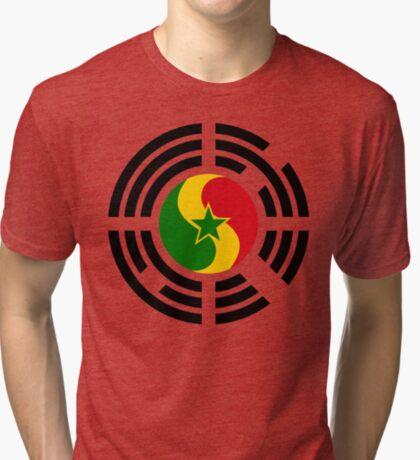 Korean Senegalese Multinational Patriot Flag Series Tri-blend T-Shirt