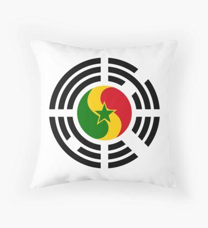 Korean Senegalese Multinational Patriot Flag Series Throw Pillow