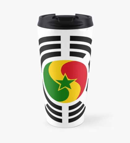 Korean Senegalese Multinational Patriot Flag Series Travel Mug