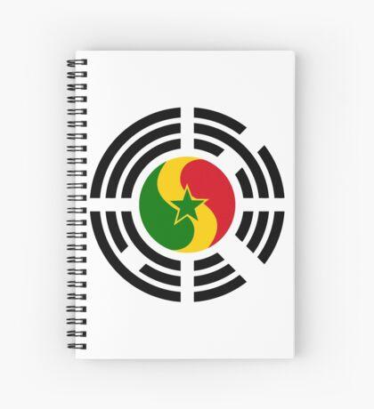 Korean Senegalese Multinational Patriot Flag Series Spiral Notebook
